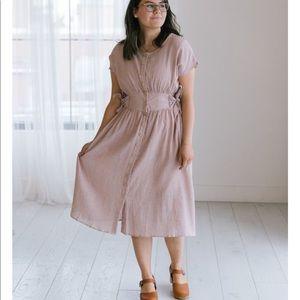 3/$35 Easel striped button down dress size L